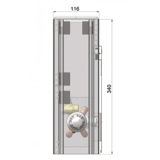 Wall-mounted convector NU2